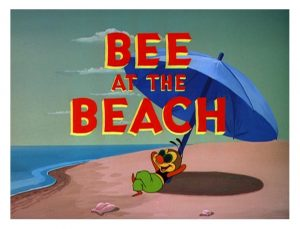 bee at the beach