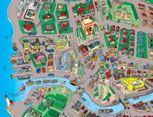 Karta över Ankeborg