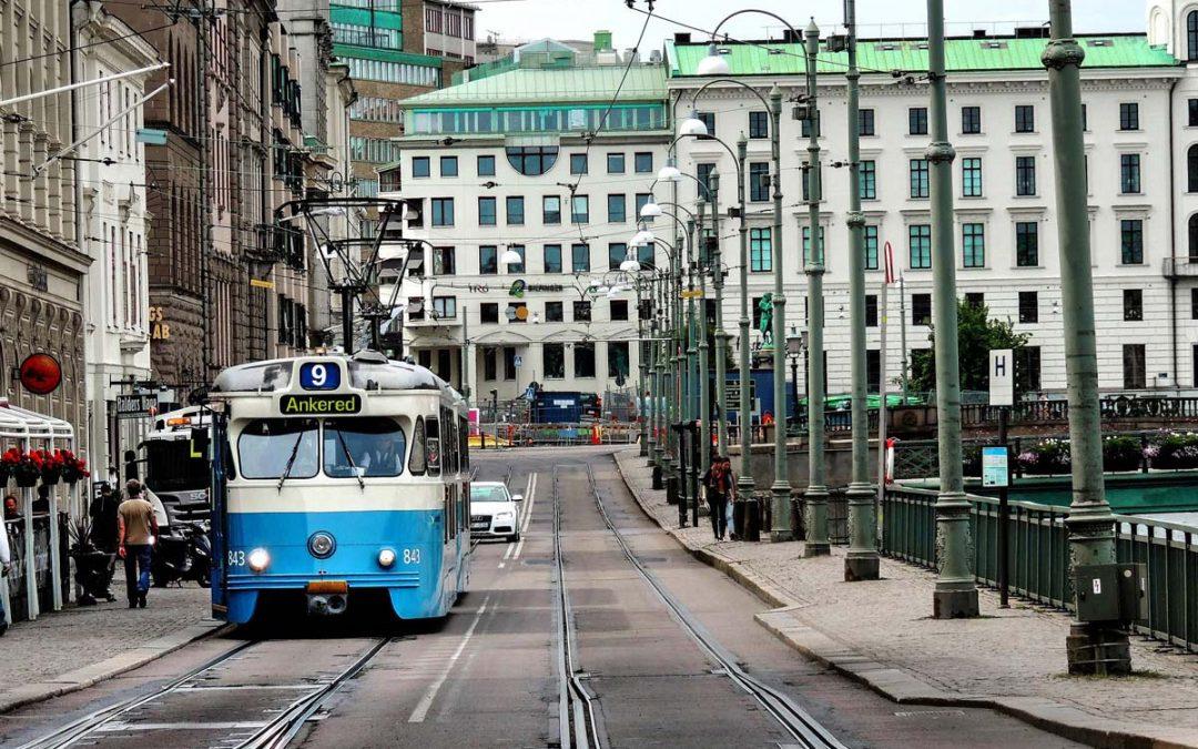 Ankeborgstrafikens spårvagnskarta
