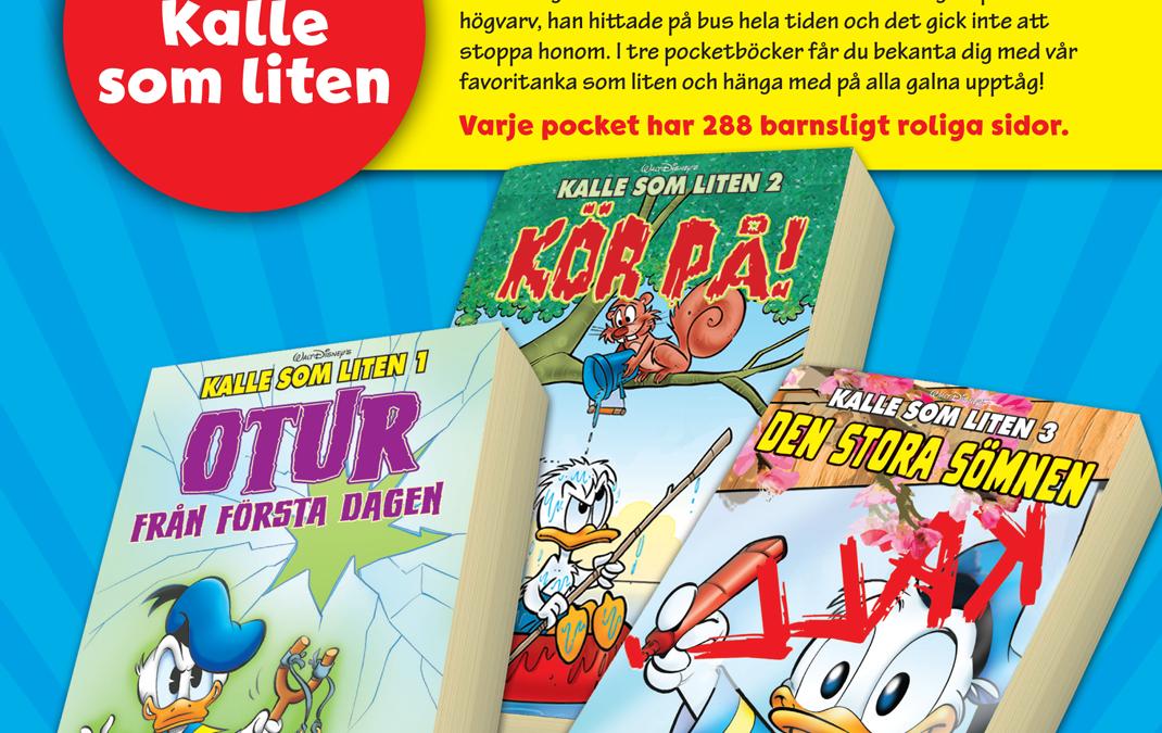 Julklappstips: Kalle Anka som liten – ny pocketserie