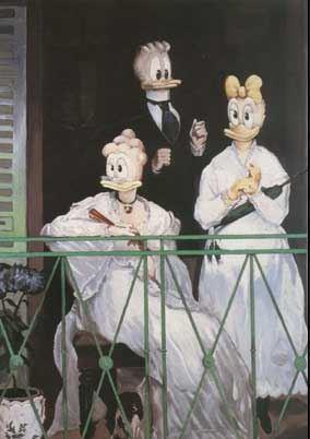 Ankifierad Eduard Manet.
