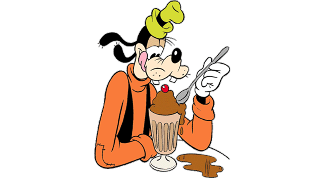 långben äter glass