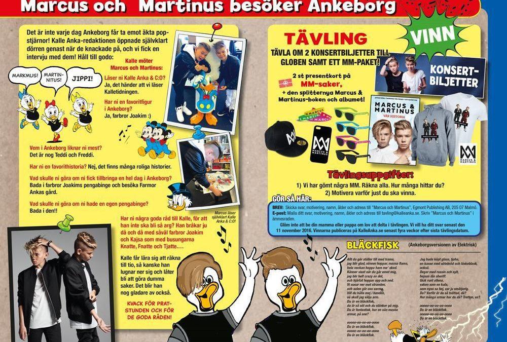 Tävla om 2 biljetter till Marcus och Martinus konsert i Globen.