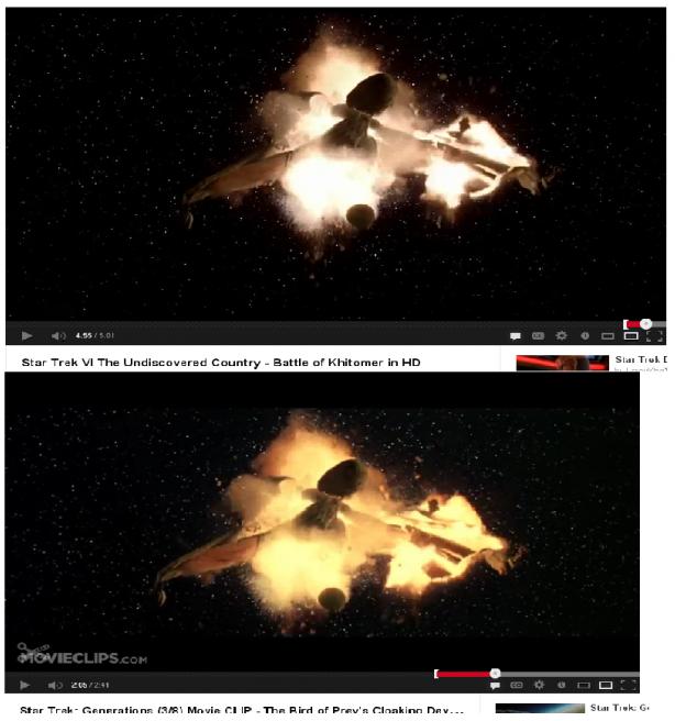 Explosion från Star Trek